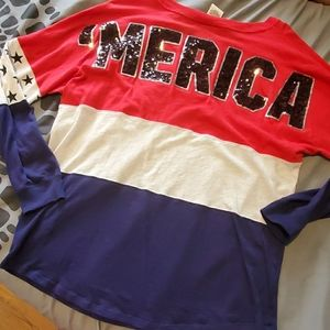 PINK  'Merica long sleeve with sequins